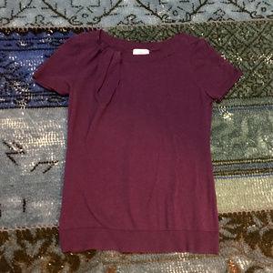 Purple Loft Crewneck Short Sleeve Sweater